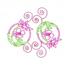 Pink Floral Circles