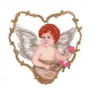 Angel in Scroll Heart