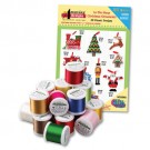 In the Hoop Ornaments with Madeira 18 Spool Thread Kit