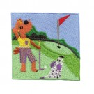Dog Playing Golf