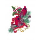 Regal Christmas Cardinals Embroidery Design Collection