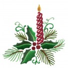 Holly And Candle Embroidery Design