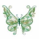 Full Wing Fanciful Butterfly Embroidery Design