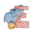 Letter E Elephant Embroidery Design