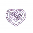 Heart Outline Celtic Knot Embroidery Design