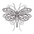 Butterfly 1 Zen Garden Sketch Embroidery Design