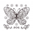 Butterfly 7 Zen Garden Sketch Embroidery Design