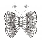 Butterfly 8 Zen Garden Sketch Embroidery Design