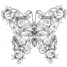 Butterfly 9 Zen Garden Sketch Embroidery Design