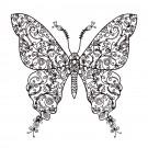 Butterfly 10 Zen Garden Sketch Embroidery Design