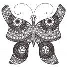 Butterfly 11 Zen Garden Sketch Embroidery Design