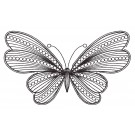 Butterfly 12 Zen Garden Sketch Embroidery Design