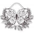 Butterfly 14 Zen Garden Sketch Embroidery Design