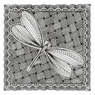 Dragonfly Panel Zen Garden Embroidery Design