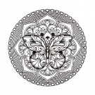 Butterfly Circle 2 Zen Garden Embroidery Design
