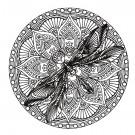 Dragonfly Circle Zen Garden Embroidery Design
