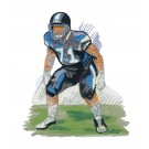 Defence Game Day Football Embroidery Design