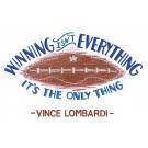 Vince Game Day Football Embroidery Design