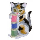 Thread Cat Embroidery Design