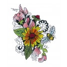 Blooming Doodles Embroidery Design 18
