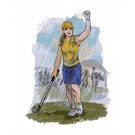 Game Day Golf Embroidery Design 3