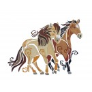SWNWH228 Mustang Mystique Embroidery Design