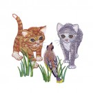 Kittens And Bird