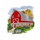 Rustic Barns Embroidery Design Collection