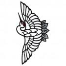 Asian Bird Applique