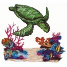 Sea Turtle in Coral Reef