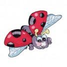 Ladybug in Flight