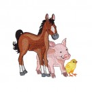 Horse Pig and Chick