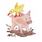Pig and Duck in Mud