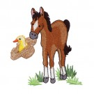 Horse Carrying Duck in Hat