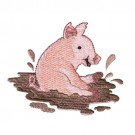 Pig Slopping in Mud