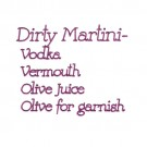 Dirty Martini Ingredients