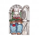 Rabbit in Garden Doorway