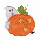 Ghost And Pumpkin Applique
