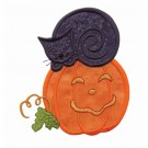 Cat And Pumpkin Applique