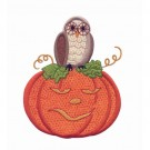 Pumpkin And Owl Applique