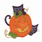 Cat And Pumpkin Applique 2