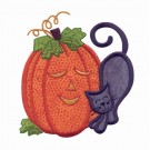 Cat And Pumpkin Applique 3