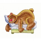 Bear Sleeping in Bed