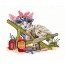 Kitten Sleeping in Beach Chair