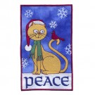 Peace Cat Applique
