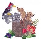 Woodpecker, Ferret, Squirrel