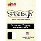 PERMANENT TOPPING WHT/BLK COMBO PACK, 40 SHEETS