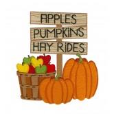 Apples Pumpkins Hay Rides Design