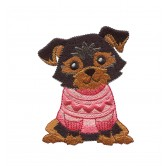 Yorkie Cool Cats and Dogs Embroidery Design