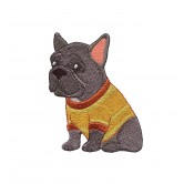 French Bulldog Cool Cats and Dogs Embroidery Design